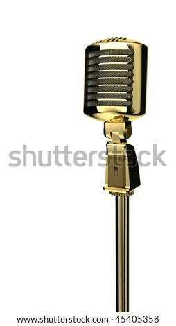 vintage golden mic 2
