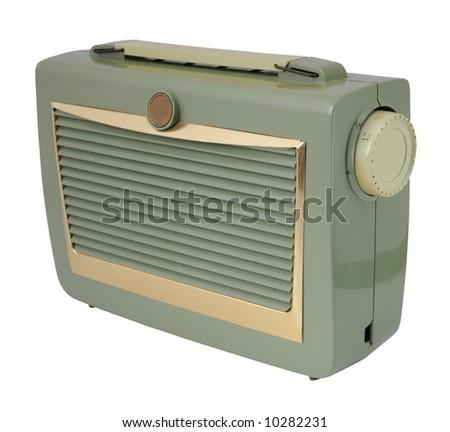 Vintage green radio