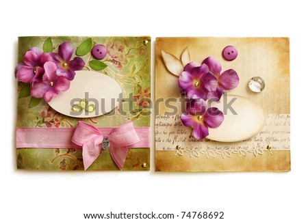vintage greeting card or frames