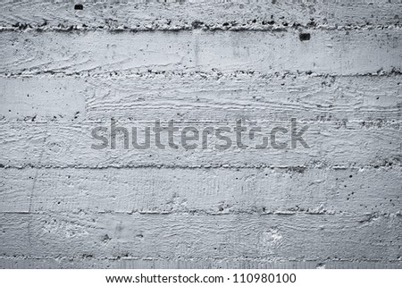 Vintage grey painted concrete wall background. Dark edged - stock photo