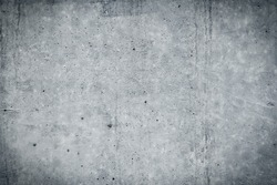 Vintage grey painted plaster concrete wall background. Dark edged