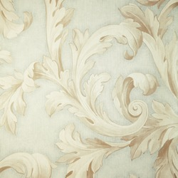 Vintage grey victorian wallpaper with beige baroque vignette. Square toned image, instagram effect