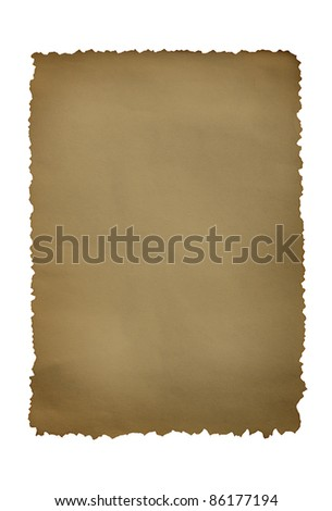 Vintage grunge burnt paper on  white background