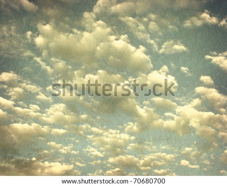 vintage grunge photo of cloudy sky