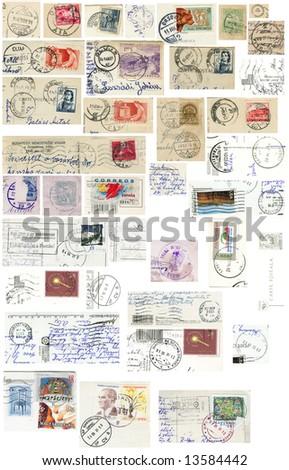 Vintage Grunge stamp collection
