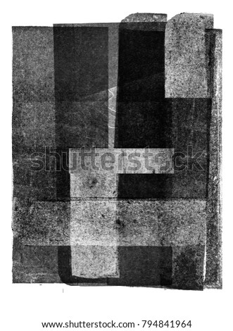 Vintage halftone print texture background (black and white)