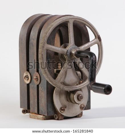 vintage hand cranked generator