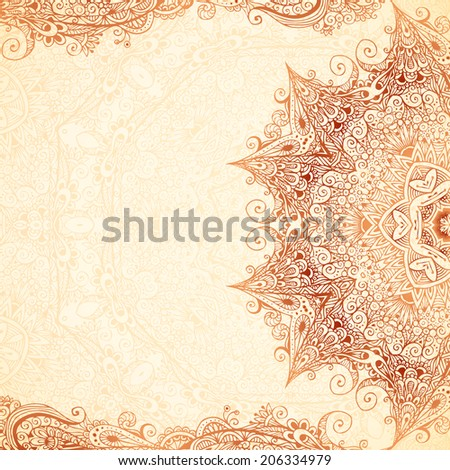 Vintage hand-drawn background. Can be used for invitation, wedding card or scrapbooking