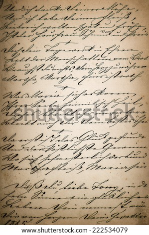 vintage handwriting. page of old poetry book. manuscript. aged paper background