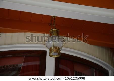 Vintage hanging lamp #1061205998