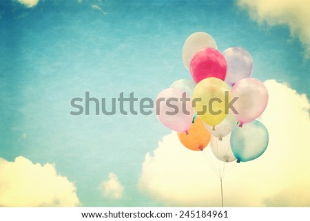vintage heart balloon with...