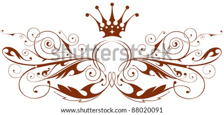 Vintage heraldic emblem. Bitmap copy my vector id 15786904