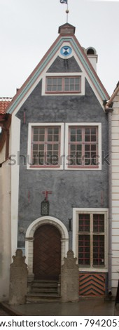 Vintage historic building. Of the historic centre. Old town. Tallinn. Estonia. #794205103