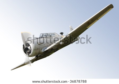 vintage historic old war aircraft in a background