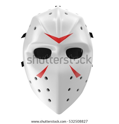 vintage hockey mask on white....