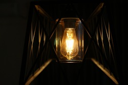 vintage home lamp, industrial home lights, iron lamp