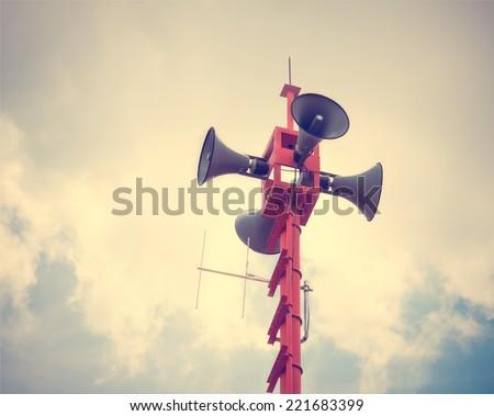 vintage horn speaker for public ...
