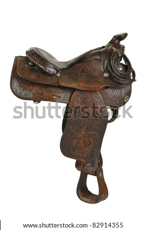 Vintage Horse Saddle - Isolated