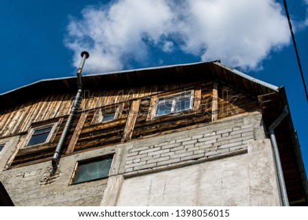 Vintage house in the town #1398056015