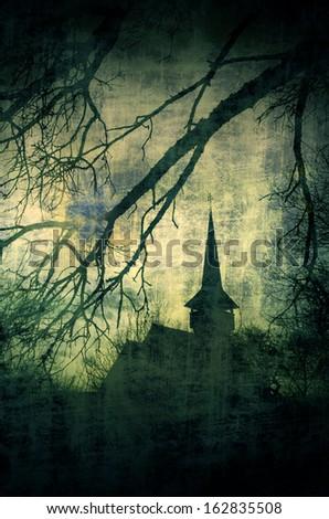 vintage image of dracula castle ...