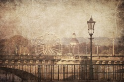 Vintage image of Dresden, Germany