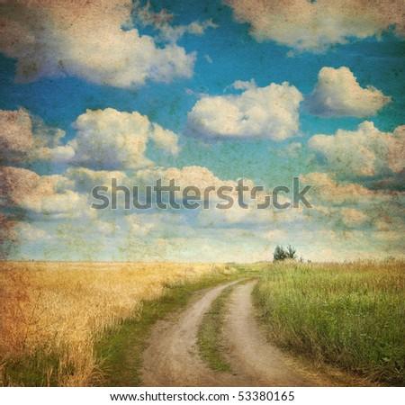 vintage image of  landscape