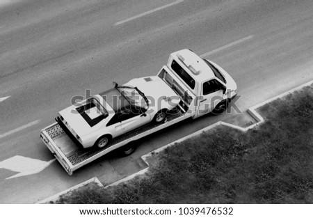 vintage image of some car on...
