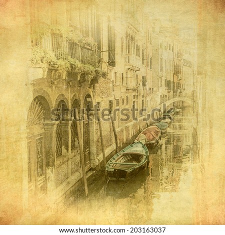 vintage image of venice  italy