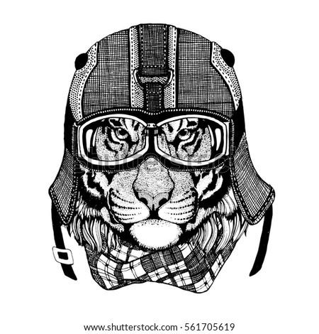 vintage image tiger for t shirt ...