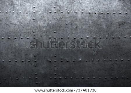 Vintage industrial background, riveted metal texture