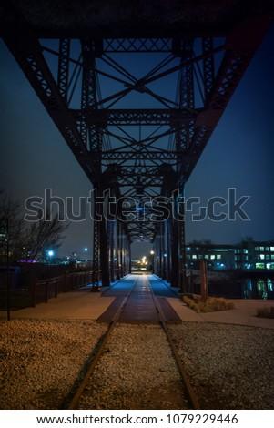 vintage industrial railroad...