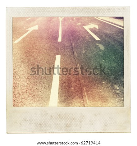 vintage instant photo. image of ...
