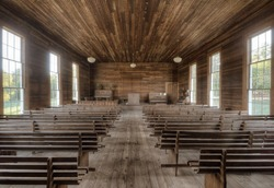 Vintage interior of an authentic early 19th century Chapel.