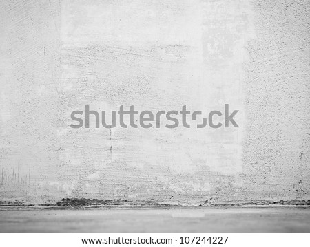 Vintage interior of stone wall and gray cement floor #107244227