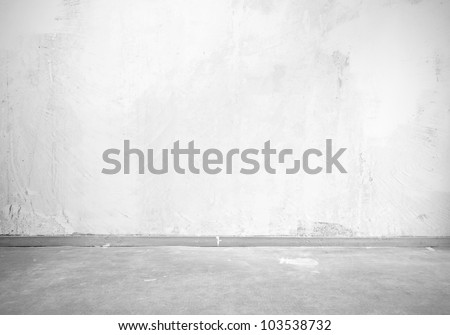 Vintage interior of stone wall and gray floor
