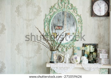 vintage interior with mirror...