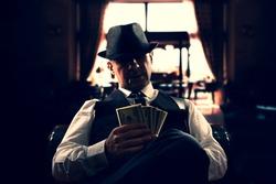 vintage Italian mafia gangster in 1930's in New York