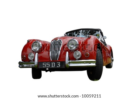 Vintage Jaguar classic isolated on white