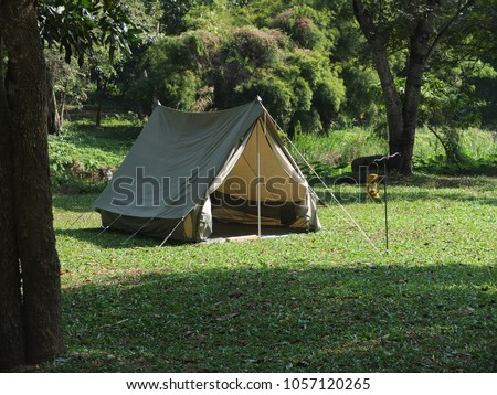 Vintage japan canvas tent for hiking