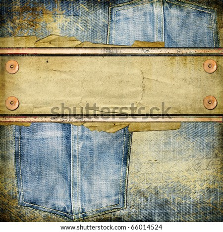 vintage jeans background with place for text