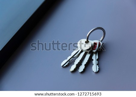 Vintage keys to a late model automobile #1272715693