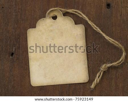 vintage label on the wooden background