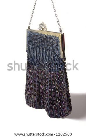 Vintage ladies handbag made from beads