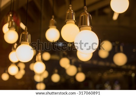Shutterstock vintage lamp, bulb decorative in home
