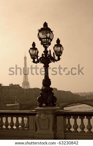 vintage lamppost on the bridge...