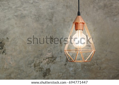 vintage lamps hanging from the...