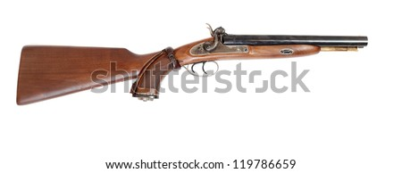Vintage large-bore hunting gun (.58 cal.)  British colonial weapon from the early 19th century. This gun�s use as the last line of defense against an attacking tiger and other dangerous animal.
