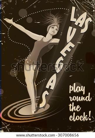 vintage las vegas poster.
