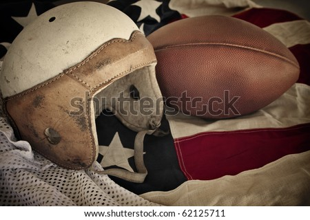 Vintage Leather Football Helmet background
