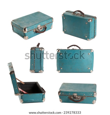 vintage leather suitcase  bag....